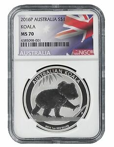 2016-P-Australia-1oz-Silver-Koala-NGC-MS70-Flag-Label