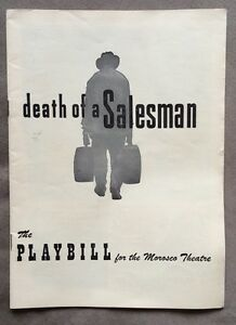 Vintage-1950s-PLAYBILL-034-Death-Of-A-Salesman-034-For-The-Morosco-Theatre
