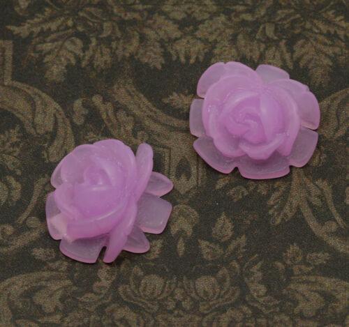 2x resin cabuchons flores para pegar bricolaje joyas DIY elección de color 17mm