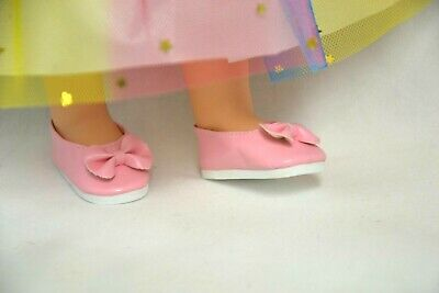 14 Inch Doll Clothes Lot Rainbow Tutu Dress /& Shoes Set For Wellie Wishers Doll