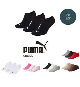 Puma-Socks-Invisible-Sneakers-Trainers-Ladies-Men-039-s-9er-Pack-Sizes-35-46-Color