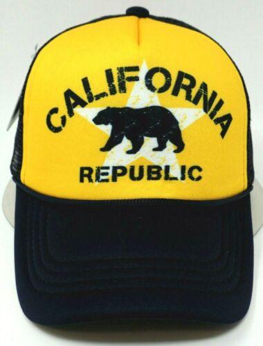 CALIFORNIA REPUBLIC Snapback Cap CALI Bear Trucker Mesh Hat OSFM NWT