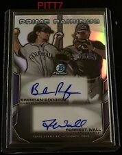BRENDAN RODGERS FORREST WALL 2x AUTO 2015 BOWMAN CHROME DRAFT PRIME PAIRINGS /25