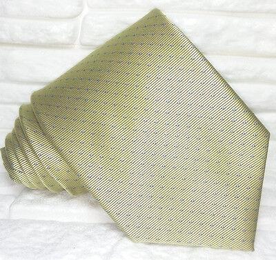 Liberale Cravatta Uomo Classica Verde Pura Seta Made In Italy Pois Jacquard Business