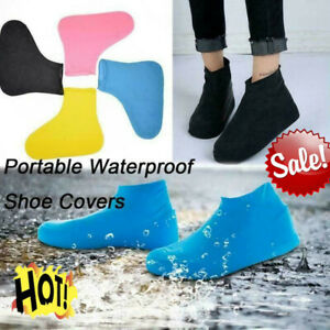 Overshoes Rain Silicone Waterproof Shoe Covers Boot Protector Recyclable C4I3