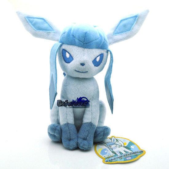 "7.5"" New Pokemon GLACEON Plush Soft Toy Doll^PC2070"