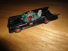 Vintage 1966 Corgi BATMAN BATMOBILE Glossy Black Die-Cast Car with Tow Hitch