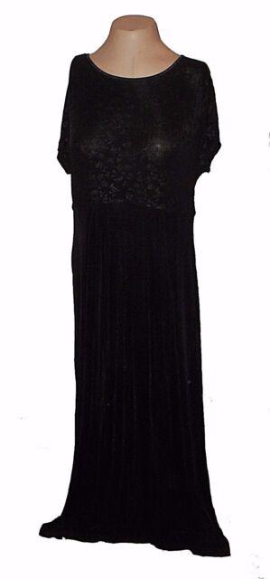 New Dress Cl Carole Little Black Knit Stretch Floral Midi Travel