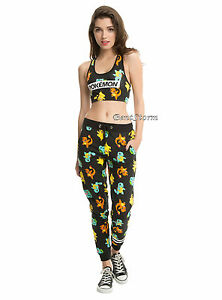 1eefd810aeac5 Pokemon GO Starters Sports Bra Crop Top   Joggers Work Out Pants SET ...