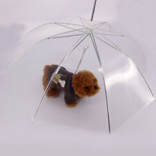 Newest Clear Pet Umbrella PE Plastics Small Dog Umbrella Rain Gear Dog Leads