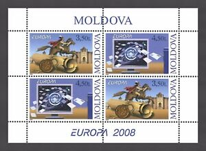 Moldova-2008-CEPT-Europa-034-Letter-writing-034-4-MNH-stamps-Booklet
