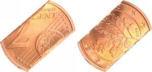 Lack Coinage 2 Cent 2006 Cancelled Through Zerschneiden, 180° Stempeldrehung