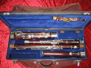 Sehr altes, schönes Fagott (Ahorn?) mit Koffer (zur grundlegenden Überarbeitung)