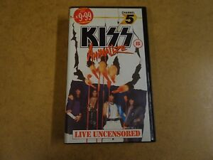 VHS-VIDEO-CASSETTE-KISS-ANIMALIZE-LIVE-UNCENSORED