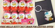 Box of 12 Kinder JOY Surprise for GIRLS Chocolate Eggs egg FREE HELLO KITTY