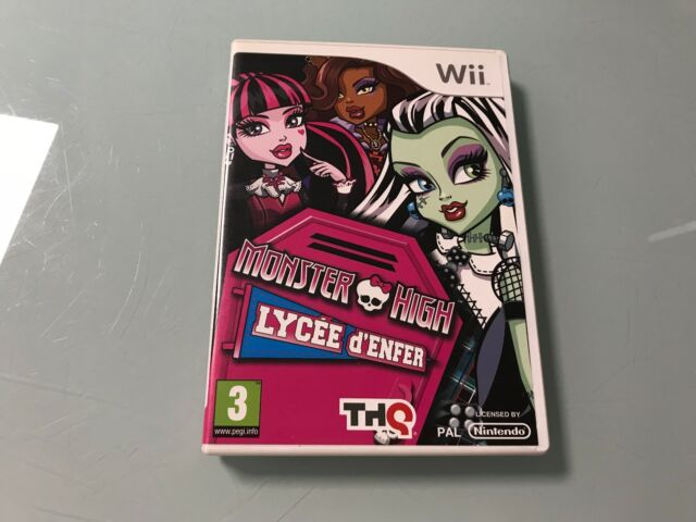 monster high lycée d enfer  sur nintendo wii
