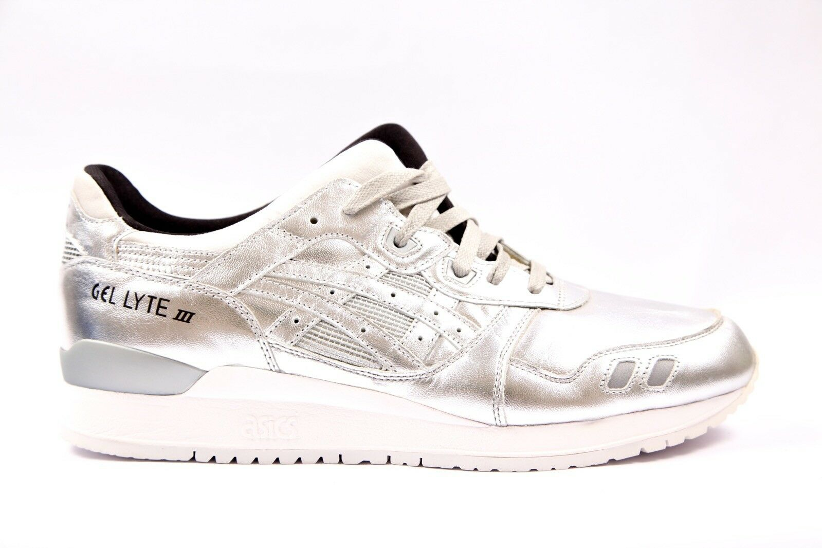 Mens Womens Asics Gel Lyte III Silver HL504 9393 Lace Up Casual Trainers