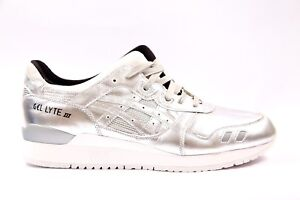 05c29adcc22c9 Mens Womens Asics Gel Lyte III Silver HL504 9393 Lace Up Casual ...