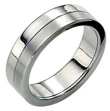 Fred Bennett 1/4oz Brushed & Polished Stainless Steel Men's Spinning Band Ring