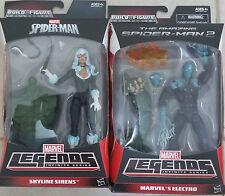 Marvel Legends Series Asombroso Hombre Araña Electro & Black Cat Skyline sirenas Nuevo