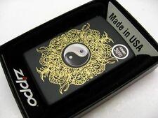 ZIPPO Full Size Black Matte Finish YIN AND YANG Classic Windproof Lighter! 28829