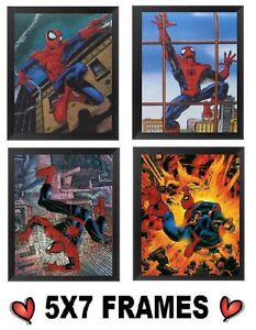 5x7-Spiderman-Pictures-Spider-Man-in-Action-Boys-Bedroom-Bed-Wall-Hangings