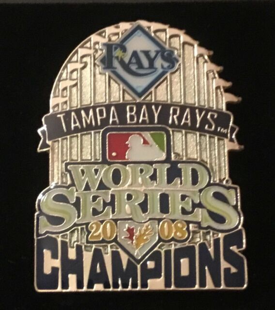 Tampa Bay Rays  2008 World ChampsTrophy Pin ERROR RARE