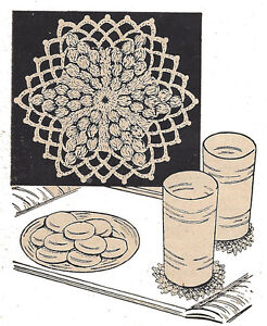 Awesome Image Is Loading Vintage Crochet PATTERN For Snowflake Glass Drink Coasters  Design Ideas