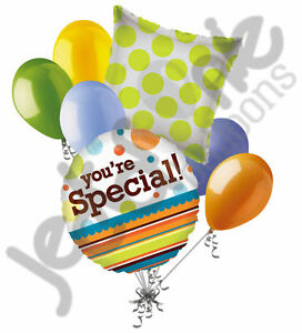 7-pc-You-039-re-Special-Dots-amp-Stripes-Balloon-Bouquet-Party-Decoration-Father-039-s-Day
