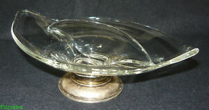 Mid-Century-Modern-Art-Glass-Crown-Sterling-Divided-Candy-Snack-Dish