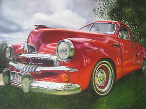 Australia-vintage-Red-Holden-art-painting-Photo-print-A1-A2-A3-canvas-poster