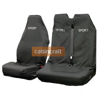 Cabincraft 3D Stretch Van Front Single Waterproof Seat Cover Grey Heavy Duty