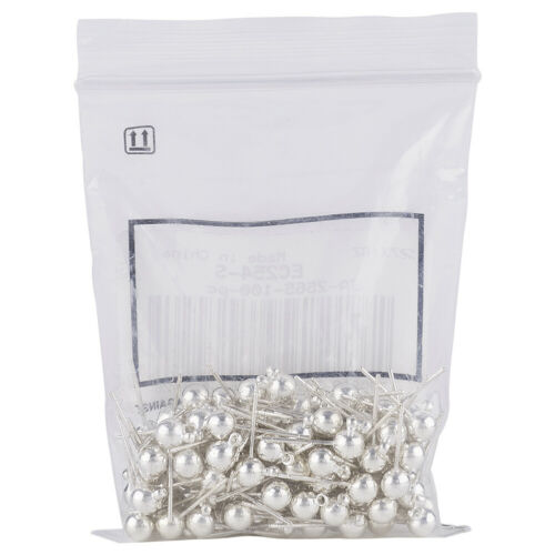 100pcs Silver Brass Ball Post Ear Studs Dangle Earring Smooth With Loop 16x5mm