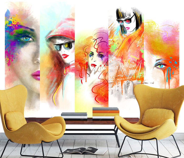 3D Graffiti Pretty Damens 142 Paper Wall Print Wall Decal Wall Deco Indoor Murals