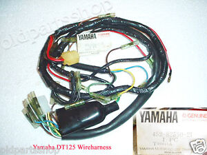yamaha dt125 wireharness nos dt 125 loom 452 82590 21 wire harness wiring ebay