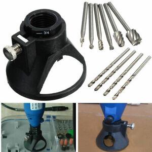 Dremel-Strumento-Multiplo-Rotativo-Fine-Taglio-Guida-Kit-Fissaggio-Con-11-Set