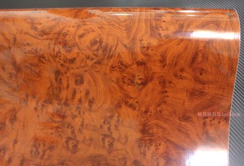DIY Glossy Peacock Wood Grain Textured Vinyl Wrap Sticker Car House Decors #9738