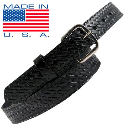 "Men Boston Leather Belt 1-1//4/"" off Duty Belt USA MADE 6607 Black 30-60 Buckle"