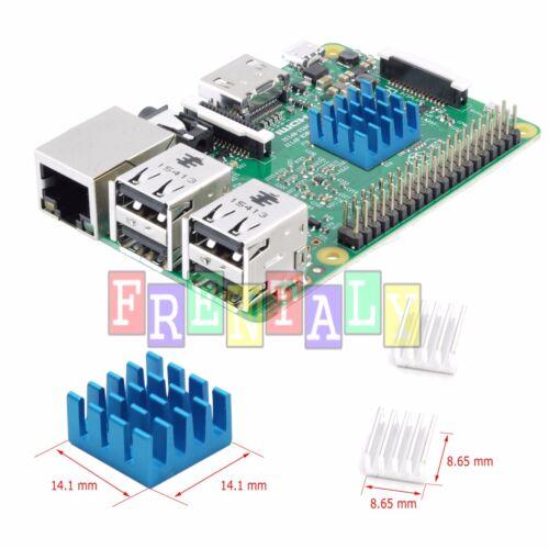 3 Pcs Set Blue Adhesive Aluminum Heatsink Cooler Cooling Kit for Raspberry Pi