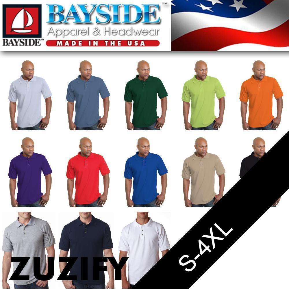 Bayside USA Made Polo Shirt. 1000