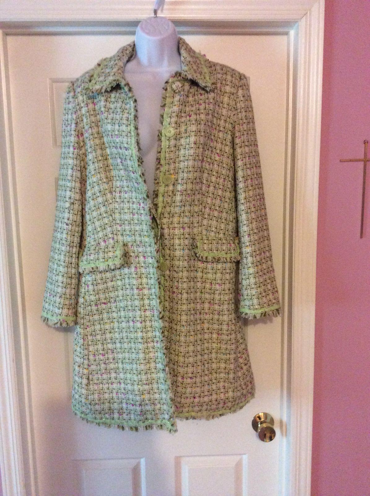 Womens sharp coat size 8, 55% SILK 45 % ACRYLIC, Basic Coat, I C E