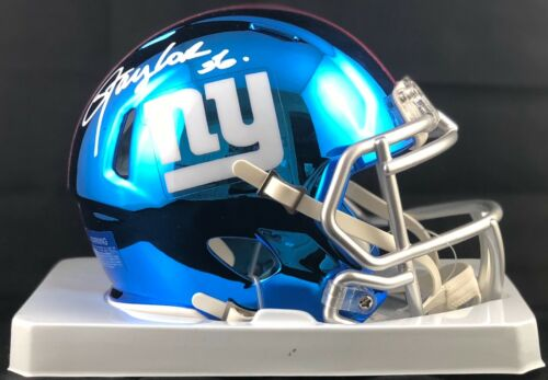 Lawrence Taylor Dédicacé Signé Chrome Mini Casque NFL New York Géants PSA