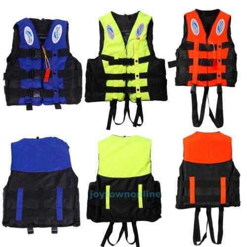 S-XXXL Polyester Erwachsene Kinder Schwimmweste Schwimmen Boote Ski Schaum Top+