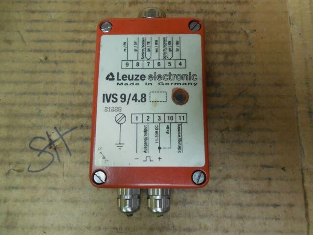 Leuze Electronic Amplifier IVS 9//4.8 IVS948 21228 30 VDC Used