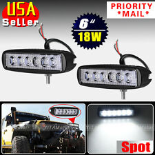2 x 18W Spot LED Work Light Bar Lamp Driving Fog Offroad SUV 4WD Car Truck 12V