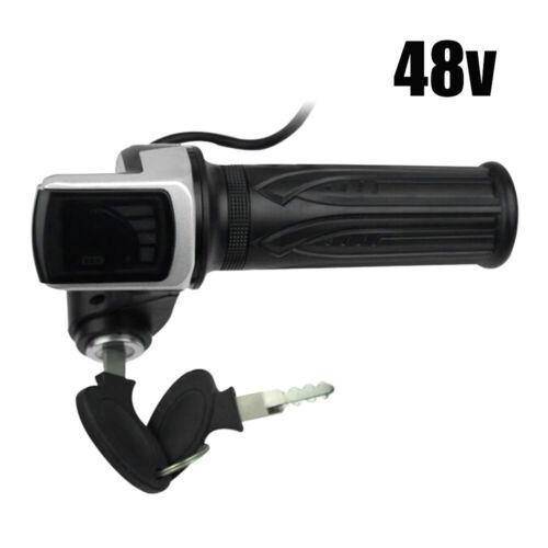 Electric Scooter E-Bike 36V 48V 60V Throttle Handlebar Grip LED Digital Meter U