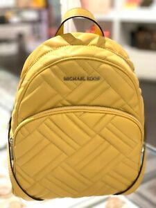 Details about Michael Kors Womens Medium Leather Travel School Shoulder Backpack Bag Yellow