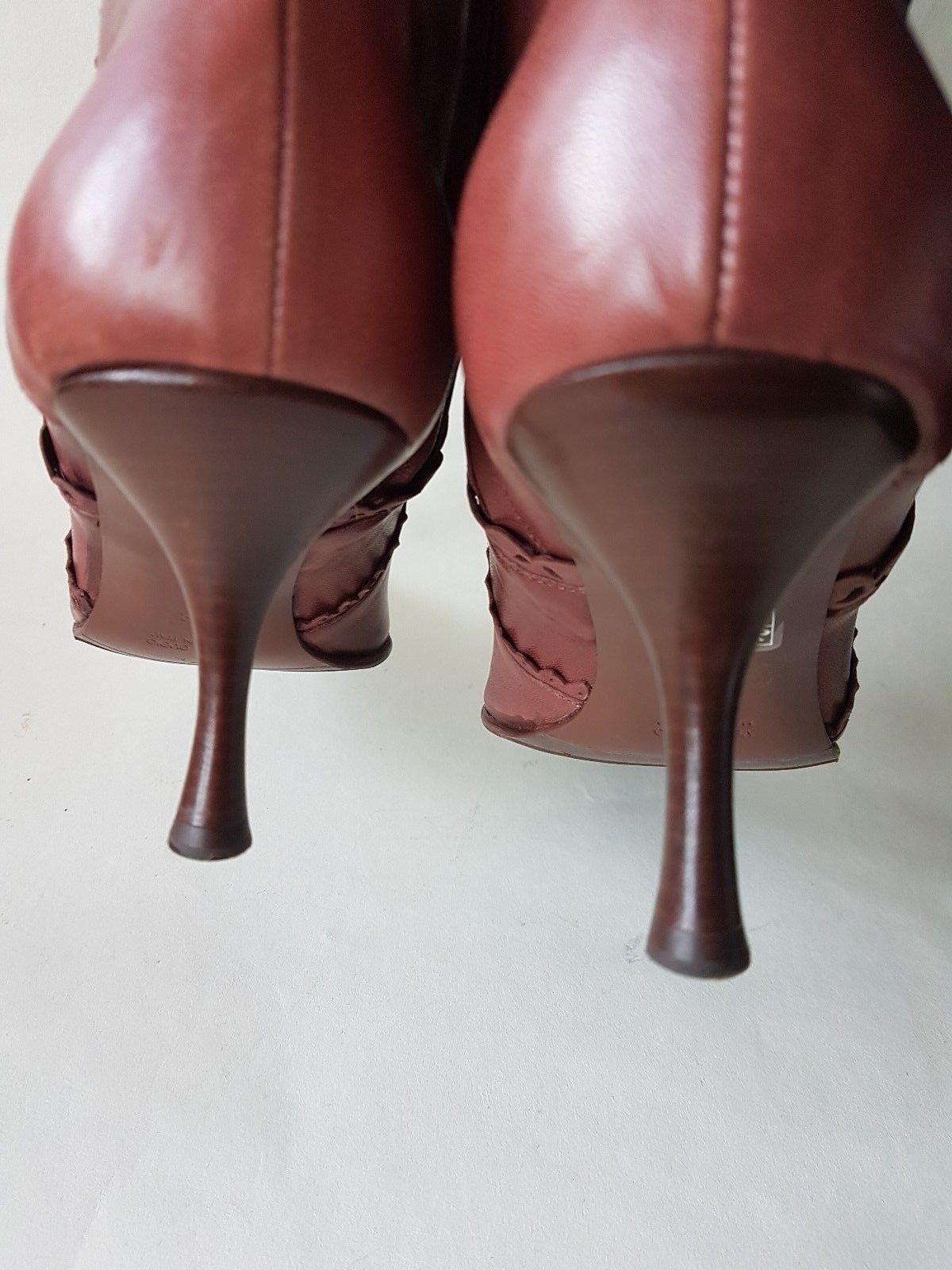 damen Escada braun Stiefelies pointy high high high heel Stiefelie Eur 38 UK 5   7ccfdc