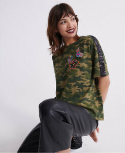 Superdry Womens Neon Patch Box Fit T-Shirt