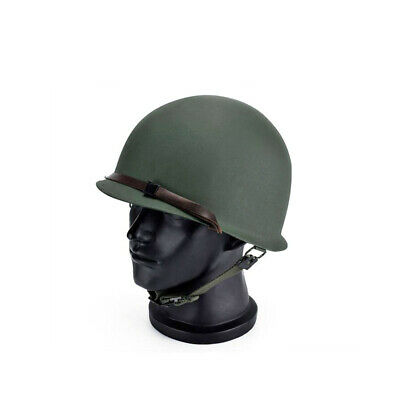 WWII US ARMY INFANTRY M1 STEEL HELMET WEB CHINSTRAPS CHIN STRAP-OD#3